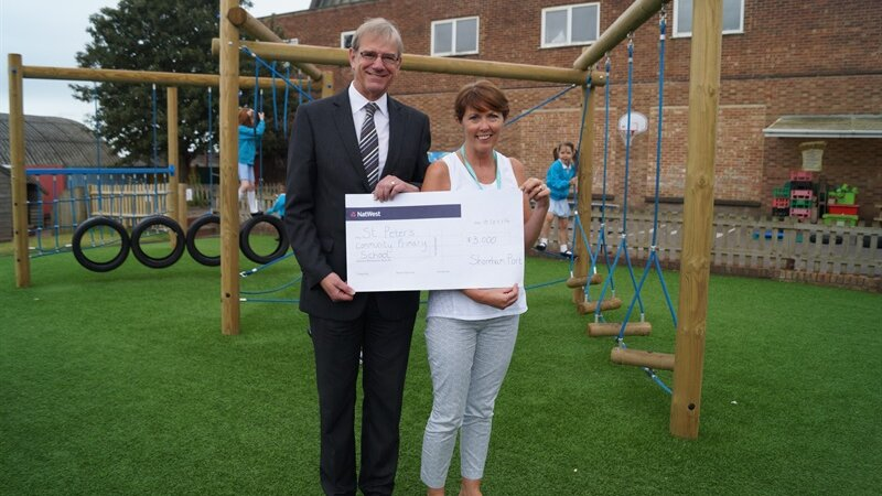St. peter's primary enjoy new play area
