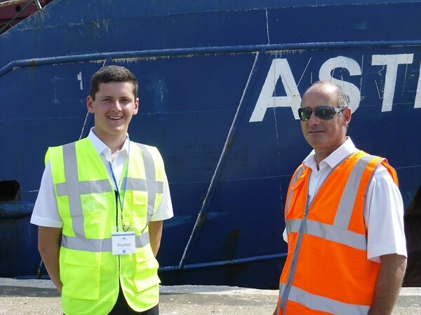 Student develops diverse skills at port