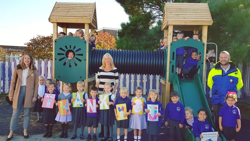 Port celebrate new play area at local school