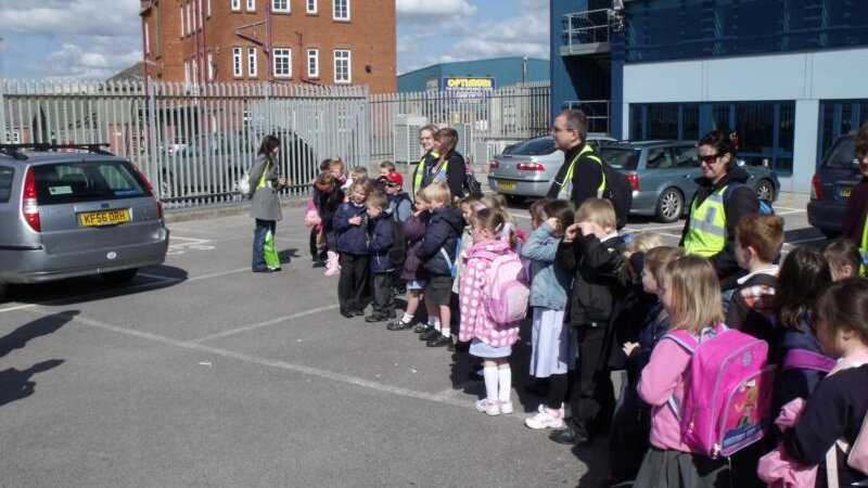 Primary school pupils surprise trip to the port