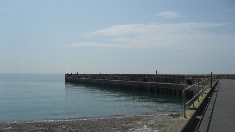 Fishing at the west breakwater