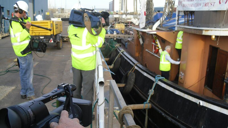 Shoreham Port's dry dock under bbc spotlight